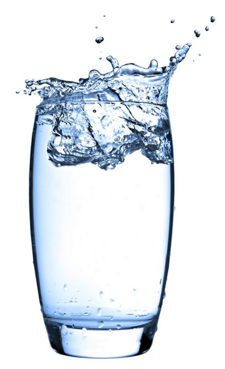 glass of healthy water that is structured water by the WoLF water structuring device