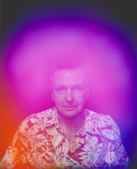 Aura Photography showing Jack Derby after short Violet Ray Crystal Resonator Chakra Balancing