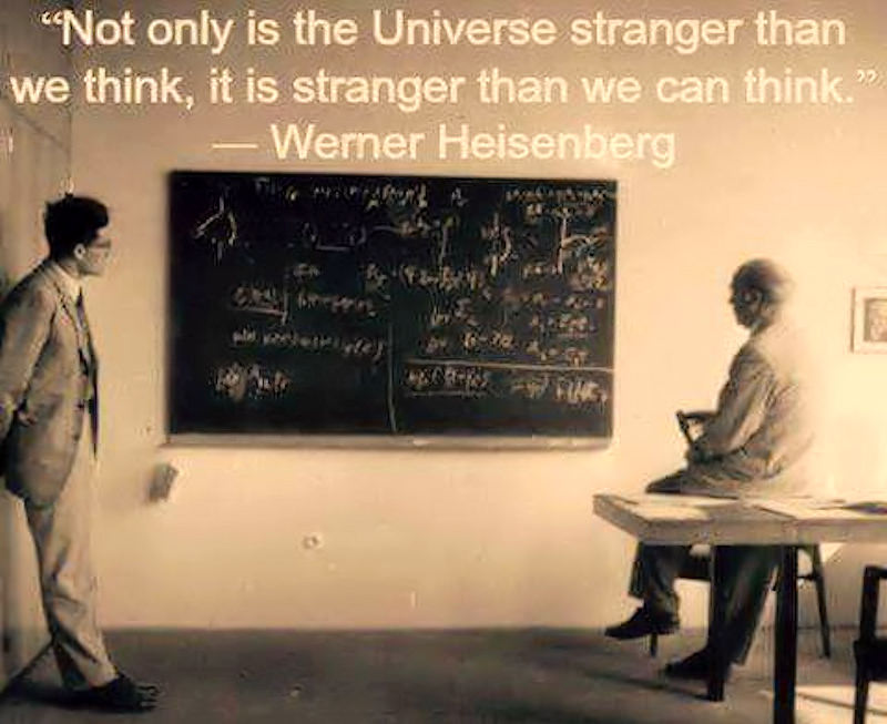 Heisenberg quote about the extreme strangeness of quantum mechanics also demonstrated in quantum water
