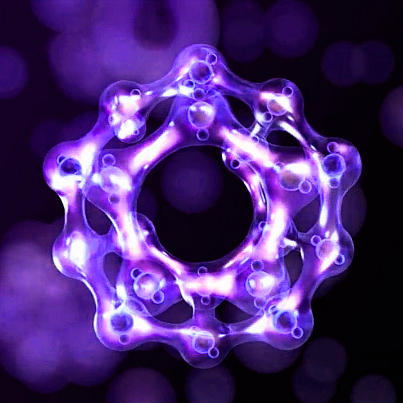 Water Cluster graphic in Purple emulating nature