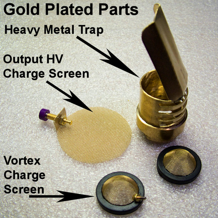 Gold Plated Charge Screens and Heavy Metal Trap Diverter