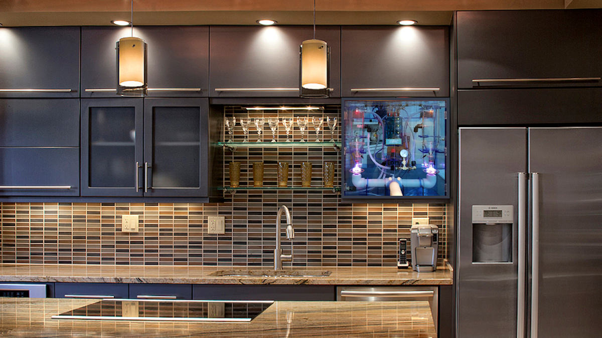 WoLF Whole Home Kitchen Custom Install depiction that still serves entire home plumbing delivery system