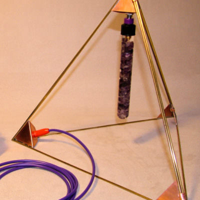 Violet Ray Transmission Antenna with Crystal Wand