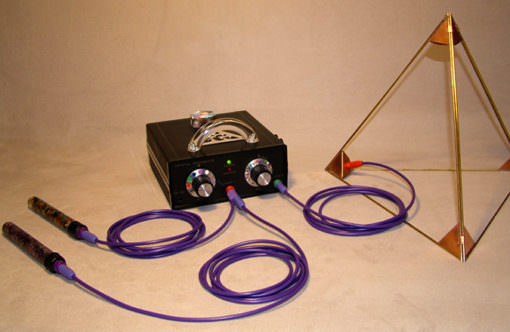 violet ray dual wand setup