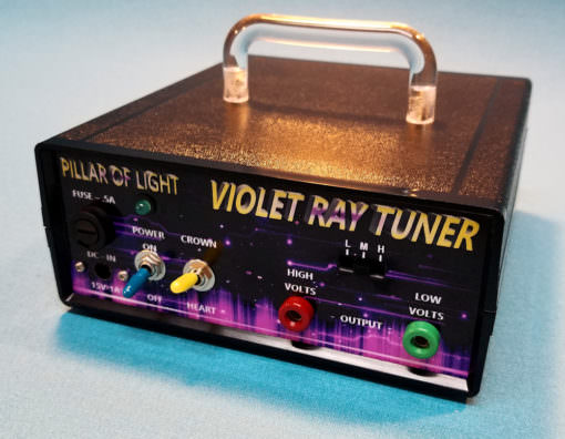 Violet Ray Tuner Kit for Schumann Resonance Chakra Balancing, EM Protection, Pain Management, Stress Reduction and more